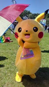 pikachu with umbrella