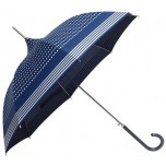 Blue / Silver Stripe Pagoda Umbrella