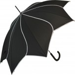 Petal Swirl Umbrella - Black