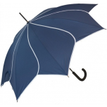 Petal Swirl Umbrella - Navy