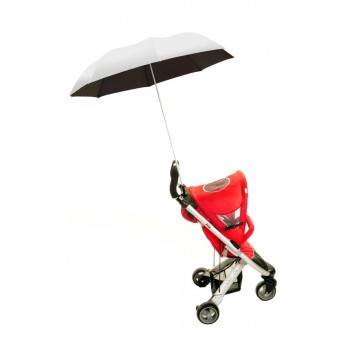 Height Adjustable Buggy Brolly - Silver