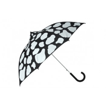 Youngsters Umbrella - Cow Moo Flage (White on Black)