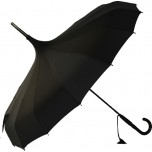 Oriental Pagoda Umbrella Black