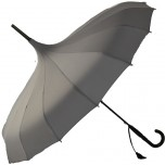 Oriental Pagoda Umbrella Charcoal Grey
