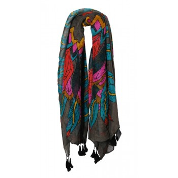 Special Offer - Pia Rossini Scarf - Rochester (Charcoal)