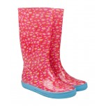 Ladies Pink Daisy Wellington Boots