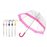 Vision Clear Dome Umbrella - Bubble Gum Pink / Black / Blue / Silver / Yellow