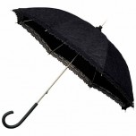 Victorian Lace Wedding Umbrella - Black