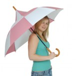Big Top Umbrella - Pink & White