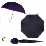 Bombay Duck Pom Pom Umbrella - Black