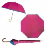 Bombay Duck Pom Pom Umbrella - Pink