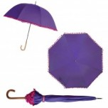 Bombay Duck Pom Pom Umbrella - Purple