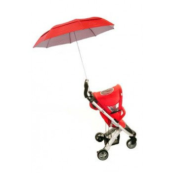 Buggy Brolly - Height Adjustable Vented Umbrella - Red
