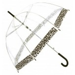 Vision Clear Dome Umbrella - Leopard