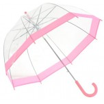 Vision Clear Dome Umbrella - Bubble Gum Pink