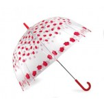 Vision Clear Dome Umbrella - Roses