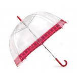 Vision Clear Dome Umbrella - Tartan