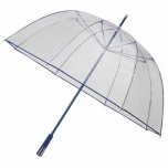 See Through Deluxe Umbrella - Royal Blue (Golf Sized)