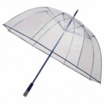 See Through Deluxe Umbrella - Navy Blue (Golf Sized Dome)