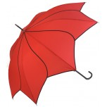 Petal Swirl Umbrella -  Red