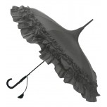 GiGi Pagoda Umbrella - Double Frill - Grey