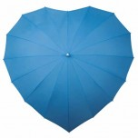 Heart Umbrella - Sky Blue