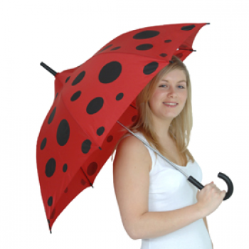 Young Ladies Ladybug Pagoda Umbrella