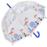 Clear London - Union Jack City Scape Umbrella