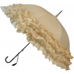 LuLu Wedding Umbrella Collection - Triple Frill - Cream