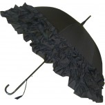 LuLu Umbrella Collection - Triple Frill - Black