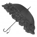 LuLu Frilly Grey Umbrella Parasol