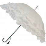 LuLu Wedding Umbrella Collection - Triple Frill - White