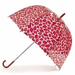 Lulu Guinness Red Kisses Birdcage Umbrella