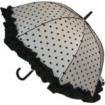 Polka Dot Umbrella - Black