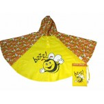 Childrens Rain Poncho - Bee