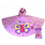 Children's Rain Poncho - Butterfly