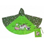 Children's Rain Poncho - Farm Yard