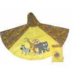 Childrens Rain Poncho - Safari