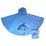 Childrens Rain Poncho - Shark