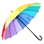 Bright Rainbow Walker Umbrella
