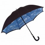 Black Double Canopy Umbrella - Cloud Design