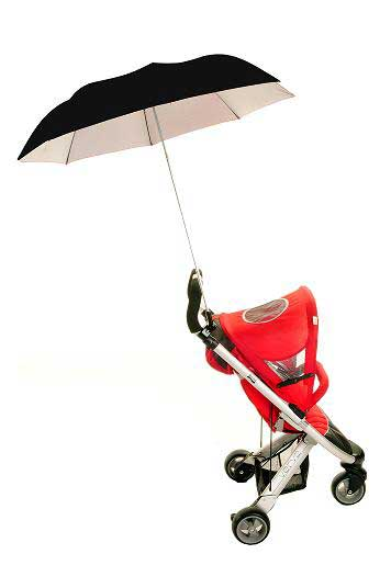 Buggy Brolly Black - Height Adjustable