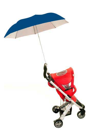 Buggy Brolly Dark Blue - Height Adjustable