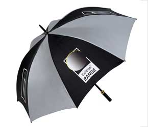 Eclipse Printed Umbrella - Black or Silver