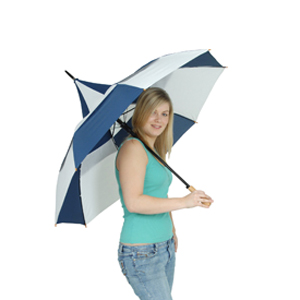 Big Top Umbrella - (His) - Blue & White