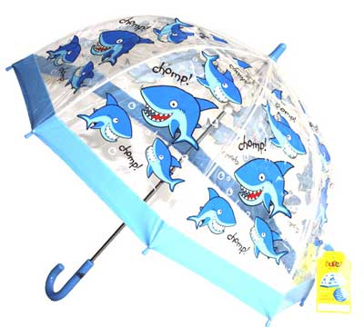 Childrens PVC Umbrella - Shark