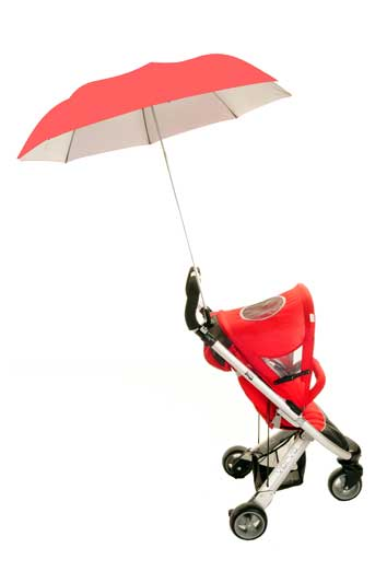 Buggy Brolly Coral - Height Adjustable