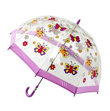 Childrens PVC Umbrella - Butterflies