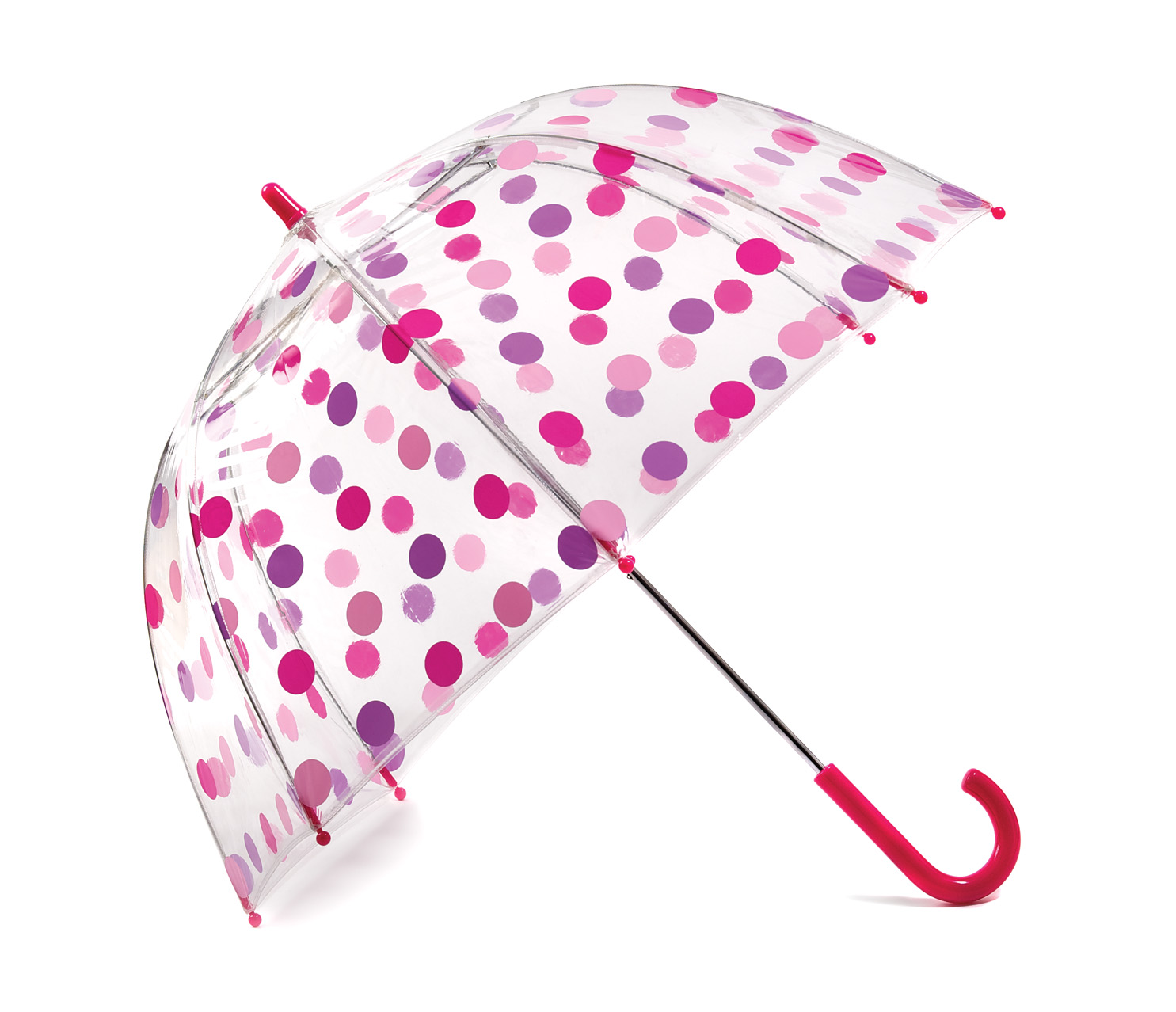 Childrens Polka Dot Umbrella - Pink & Purple