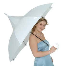 Classic White Pagoda Wedding Umbrella